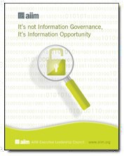It's Not Information Governance, It's Information Opportunity