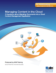 Managing Content in the Cloud