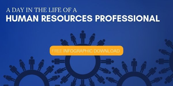 A Day in the Life of a Human Resources Professional Infographic SM