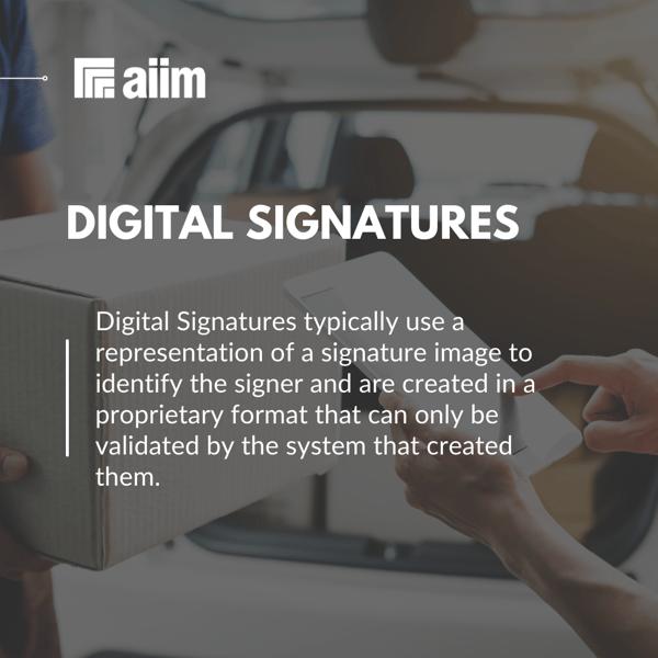 AIIM Blog Digital Signatures