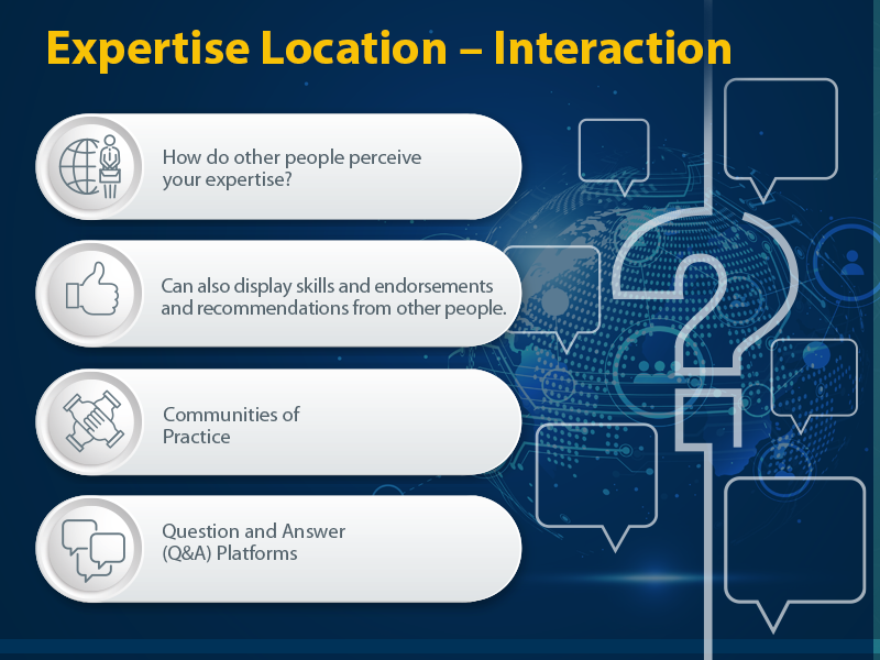What Are the Best Tools and Approaches for Expertise Location? Expert Location - Interaction