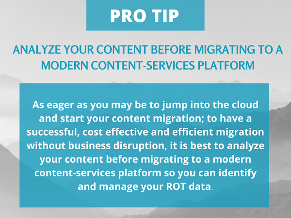 analyze your content before migrating to a modern content-services platform