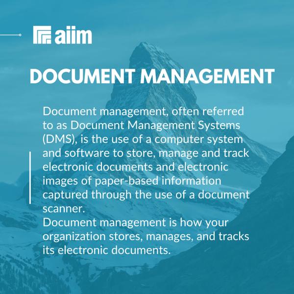 AIIM Blog Document Management