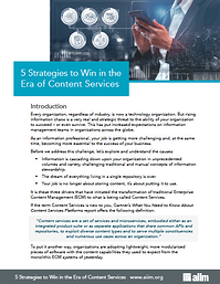 5 Strategies to Win in the Era of Content Services Cover
