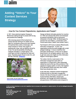 """Adding """"Velcro"""" to Your Content Services Strategy"""