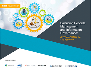 Balancing Records Management and Information Governance Cover