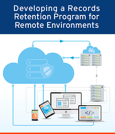 Developing a Records Retention Program for Remote Environments IG Cover