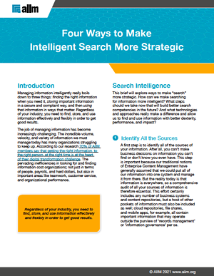 Four Ways to Make Intelligent Search More Strategic