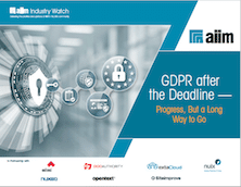 GDPR after the Deadline - Progress, But a Long Way to Go