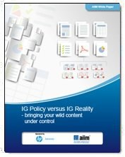 Information Governance Policy versus Reality