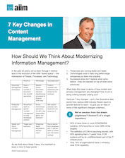How Should We Think About Modernizing Information Management?