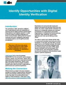 Identify Opportunities with Digital Identity Verification