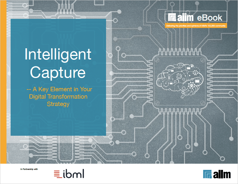 Intelligent Capture - A Key Element in Your Digital Transformation Strategy Cover