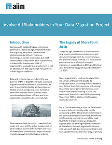 Involve All Stakeholders in Your Data Migration Project