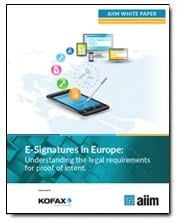 E-Signatures on Europe: Understanding the legal requirement for proof of intent