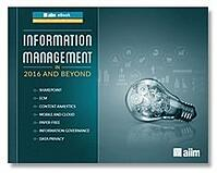 Information Management – 2016 and Beyond