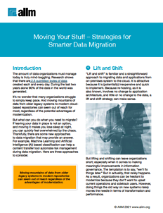 Moving Your Stuff – Strategies for Smarter Data Migration Cover