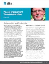 Process Improvement Through Automation