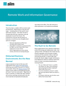 Remote Work and Information Governance