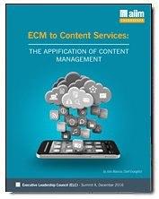 ECM to Content Services: The Application of Content Management