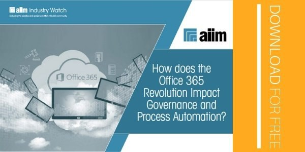 How does the Office 365 Revolution Impact Governance and Process Automation SM