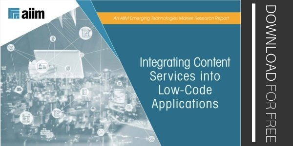 Integrating Content Services into Low-Code Applications SM