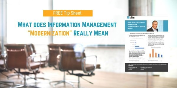 """What does Information Management """"Modernization"""" Really Mean SM"""