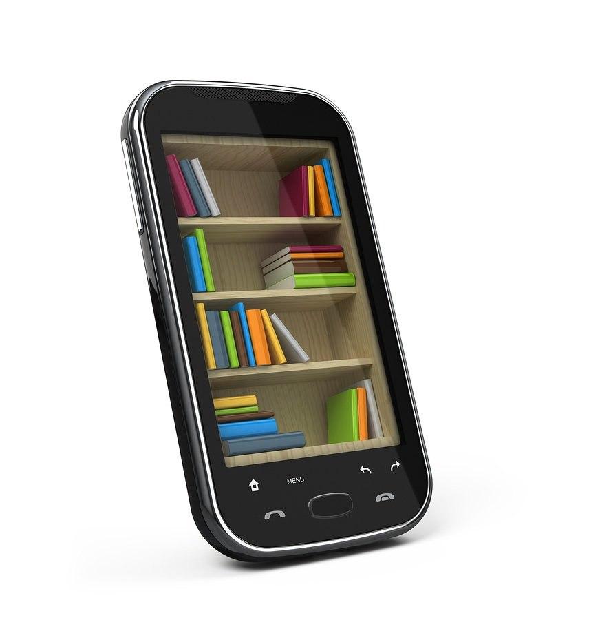 bigstock-Smartphone-with-bookshelf--e--30038000
