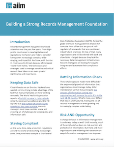 Building a Strong Records Management Foundation